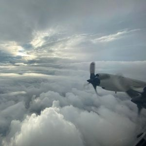 Within the eye of Hurricane Ida on NOAA WP-3D Orion N43RF Miss Piggy the morning of August 28, 2021 Credit Lt. Cmdr. Kevin Doremus, NOAA Corps